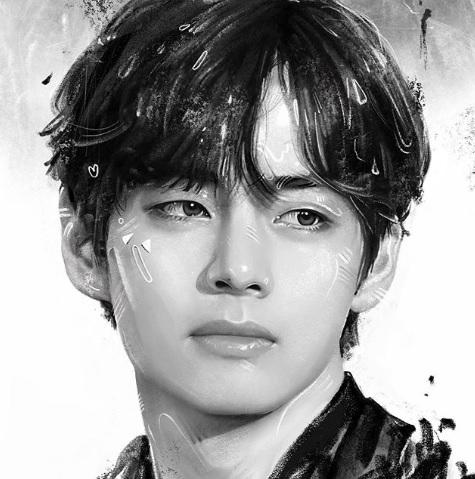 BTSの熱烈ファンの韓国有名画家「V(ブイ)は芸術家を刺激する美しい顔 ...