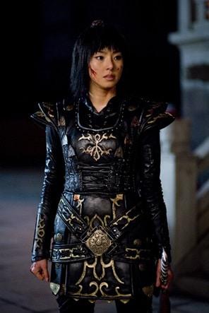 第三近衛の女性隊長カクタンを演じたイ・ダヒ