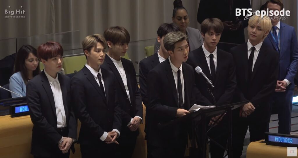 BTSは2018年、国連本部で「自分自身を語ろう」とメッセージを送った