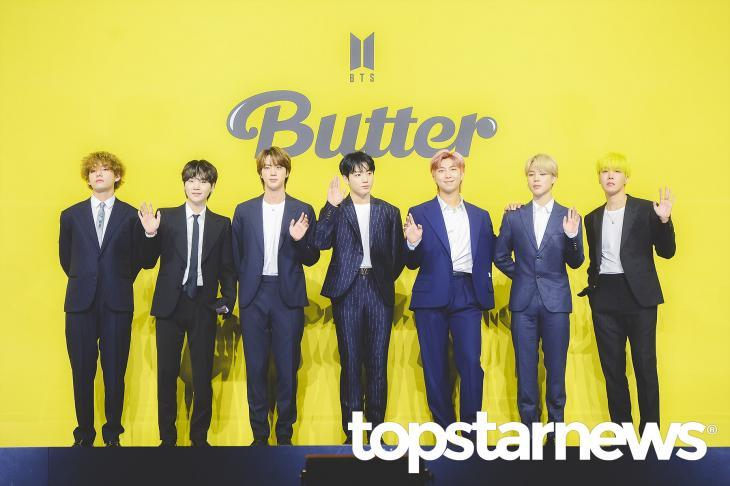 『Butter』で通算4度目の1位獲得となったBTS